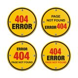 Error 404 circle signs Stock Photography
