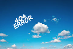 Error clouds Royalty Free Stock Photography