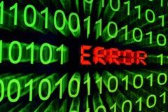 Error concept. Close up of Error concept Royalty Free Stock Image
