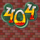 Error 404 concept with brick wall Stock Image
