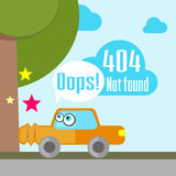 Error 404 concept with car accident Stock Image