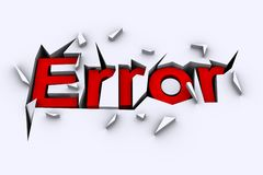 Error Concept Stock Image