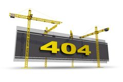Error 404 Concept Royalty Free Stock Photos