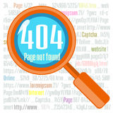 Error 404 concept with magnifier Royalty Free Stock Images