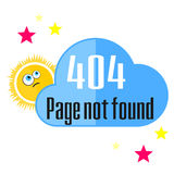 Error 404 concept with sun and cloud Royalty Free Stock Photography
