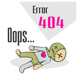Error 404 concept with voodoo doll Royalty Free Stock Photos