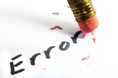 Error correction Royalty Free Stock Images