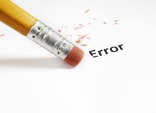 Error correction Royalty Free Stock Image