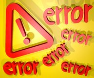 Error cover Royalty Free Stock Photography