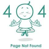 Error creativo de la página web del concepto 404 del sitio web del diseño del vector del diseño de página del error 404 Fotografía de archivo libre de regalías