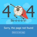 Error de la página 404 del concepto Foto de archivo