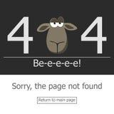 Error de la página 404 del concepto Imagenes de archivo