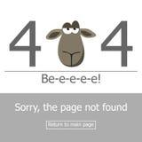 Error de la página 404 del concepto Imágenes de archivo libres de regalías