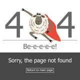 Error de la página 404 del concepto Fotografía de archivo libre de regalías