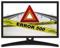 Error de servidor interno del ERROR 500 El mensaje en el monitor libre illustration