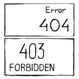 error de 404 y 403 conexiones stock de ilustración