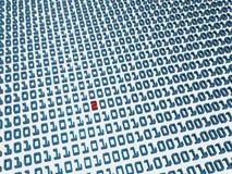 Error del código binario Fotos de archivo libres de regalías