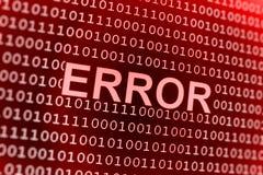 Error del código binario Imágenes de archivo libres de regalías