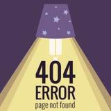 Error del concepto 404 del vector Imagen de archivo libre de regalías