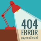 Error del concepto 404 del vector Fotos de archivo libres de regalías