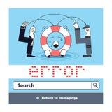 Error del diseño 404 Foto de archivo