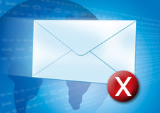 Error del email/concepto del virus Imagen de archivo libre de regalías