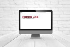 Error 404 del ordenador Fotos de archivo