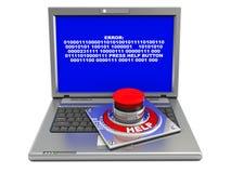 Error del ordenador Foto de archivo libre de regalías
