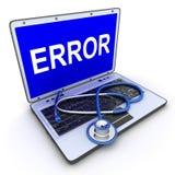 Error del ordenador portátil Fotografía de archivo libre de regalías