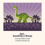 Error 404 dinosaur theme Stock Photo