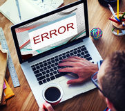 Error Disconnect Warning Failure AbEnd Concept.  stock images