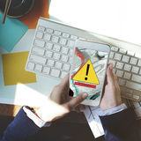Error Disconnect Warning Failure AbEnd Concept royalty free stock photography