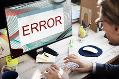 Error Disconnect Warning Failure AbEnd Concept royalty free stock image