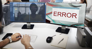 Error Disconnect Warning Failure AbEnd Concept stock photo