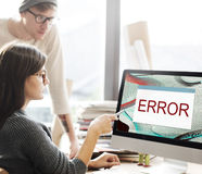 Error Disconnect Warning Failure AbEnd Concept Stock Image