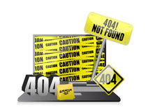 404 error display on a laptop. Royalty Free Stock Photos