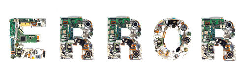 Error electronic Stock Photo