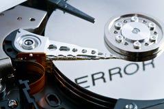 Error en disco duro Fotografía de archivo