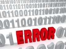 Error en los datos Fotografía de archivo libre de regalías