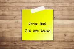 404 Error file not found Royalty Free Stock Photos