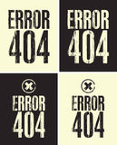 Error 404. Four banners with the inscription error 404 Royalty Free Stock Photos