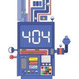 Error 404 Fracaso de la producción de sistema Plantilla no encontrada FO de la página Fotografía de archivo libre de regalías