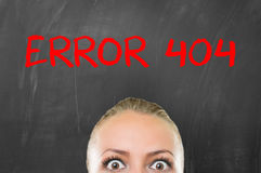 Error 404 royalty free stock images
