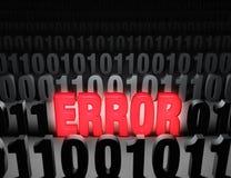 Error glaring del ordenador Foto de archivo
