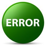Error green round button Stock Photography