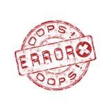 Error grunge rubber stamp Stock Photo