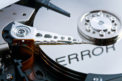 Error on hard disk Stock Photography
