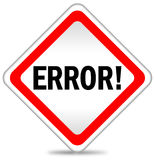 Error icon Royalty Free Stock Photography