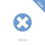 Error icon Royalty Free Stock Photography