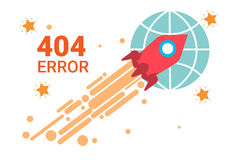 Error Icon 404 Not Found Broken Message Banner. Flat Vector Illustration Royalty Free Stock Photos